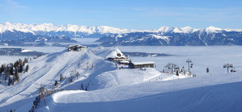 лыжа курорта панорамы Стоковое Фото