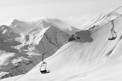 лыжа курорта подъема стула Стоковое фото RF