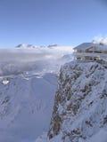лыжа курорта типа французская высокая Стоковое фото RF
