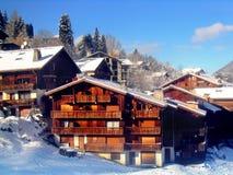лыжа курорта Франции Стоковое фото RF
