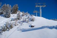 лыжа курорта Стоковые Изображения