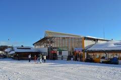 лыжа курорта Стоковая Фотография