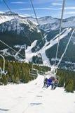 лыжа курорта louise озера Стоковое фото RF