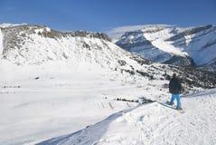 лыжа курорта louise озера стоковая фотография rf