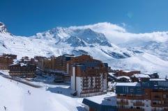 лыжа курорта mottaret meribel Стоковое Изображение RF