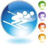 лыжа пар Стоковое Изображение