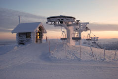 лыжа подъема Лапландии Стоковые Фотографии RF