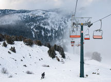 лыжа подъема стулов Стоковое Фото