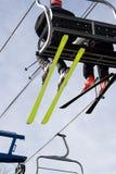 лыжа подъема стула Стоковые Изображения