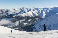 Лыжа путешествуя в горах Tatra Стоковая Фотография RF