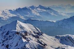 лыжа склоняет Швейцария Стоковые Фотографии RF