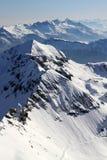 лыжа склоняет Швейцария Стоковые Изображения