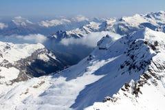 лыжа склоняет Швейцария Стоковые Изображения RF