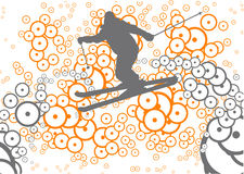 лыжа фристайла Стоковые Фотографии RF