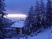 лыжа chalet Стоковое фото RF
