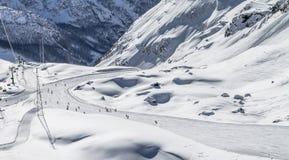 Лыжа Monterosa Стоковое фото RF