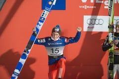 Лыжа WC летая Vikersund (Норвегия) 14-ое февраля 2015 (от 2-ой половины Стоковая Фотография