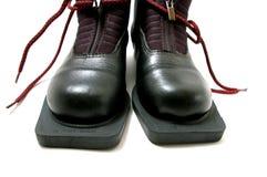 лыжи ботинка идущие стоковое фото rf