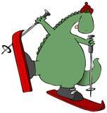 лыжи динозавра Стоковое Изображение RF