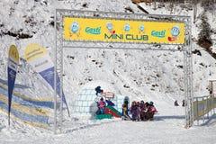 Лыжная школа детей в Angerta Стоковое фото RF