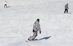 Лыжники и snowboarders Стоковые Изображения RF