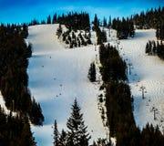 Лыжники на большой горе Стоковые Фото