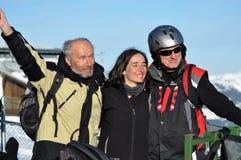 лыжники партии alps австрийские Стоковое Изображение RF