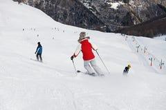 лыжники Стоковые Фотографии RF
