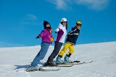 лыжники Стоковое Изображение RF