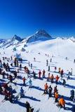 лыжники Стоковая Фотография RF