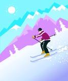 Лыжник горы стоковое фото rf