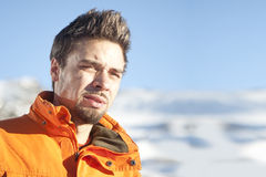 лыжник портрета Стоковая Фотография RF