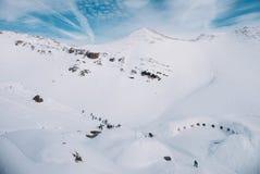 Лыжный курорт в горе, горная вершина, Германия Стоковые Фотографии RF