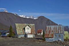 Лыжный курорт в национальном парке Laguna de Laja, Чили стоковые фотографии rf