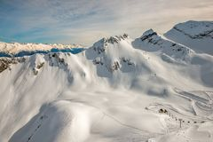 Лыжный курорт в Сочи, России Стоковые Фотографии RF