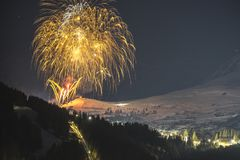Лыжный курорт горных лыж Serfaus Fiss Ladis в Австрии Стоковая Фотография