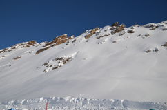 Лыжный курорт горных лыж в Solden в Otztal Альпах, Tirol, Австрии Стоковые Изображения