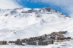 Лыжный курорт горы Стоковая Фотография RF