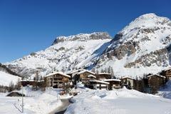 Лыжный курорт горы Стоковое Фото