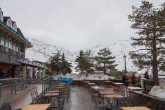 Лыжный курорт Испании сьерра-невады Стоковые Изображения