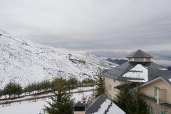 Лыжный курорт Испании сьерра-невады Стоковое Изображение