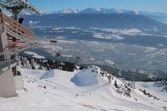 Лыжный курорт, лифт Инсбрук, Австрия Стоковое фото RF