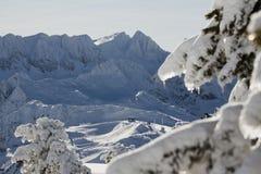 Лыжный курорт после шторма стоковые изображения