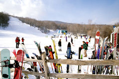 Лыжный курорт стога сена Стоковые Фотографии RF