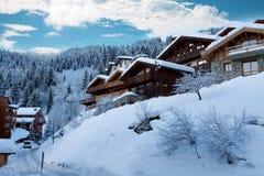 Лыжный курорт Стоковые Изображения RF