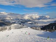 Лыжный курорт Стоковое Изображение RF