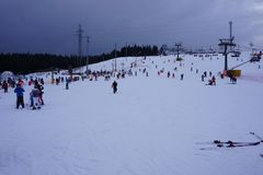 Лыжный курорт Bania в Bialka Tatrzanska Польше Стоковая Фотография RF