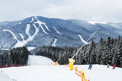 Лыжный курорт Bukovel, Украина Стоковые Изображения RF