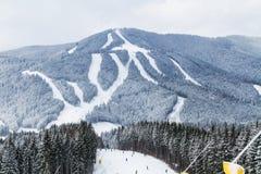 Лыжный курорт Bukovel, Украина Стоковые Изображения