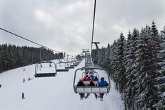 Лыжный курорт Bukovel, Украина Стоковое Изображение RF
